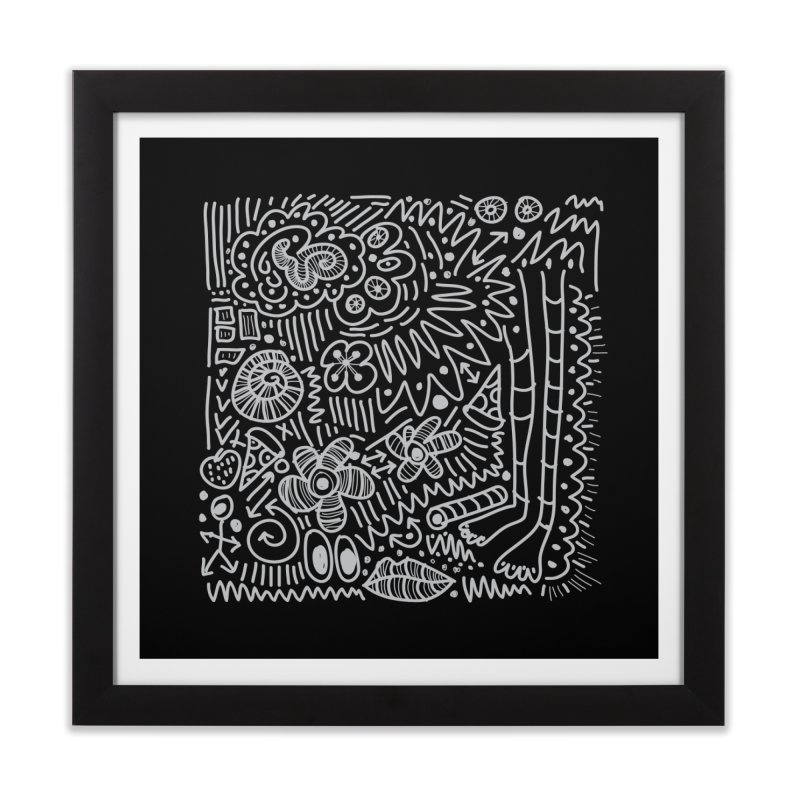 Doodle Therapy Home Framed Fine Art Print by heidig's Shop