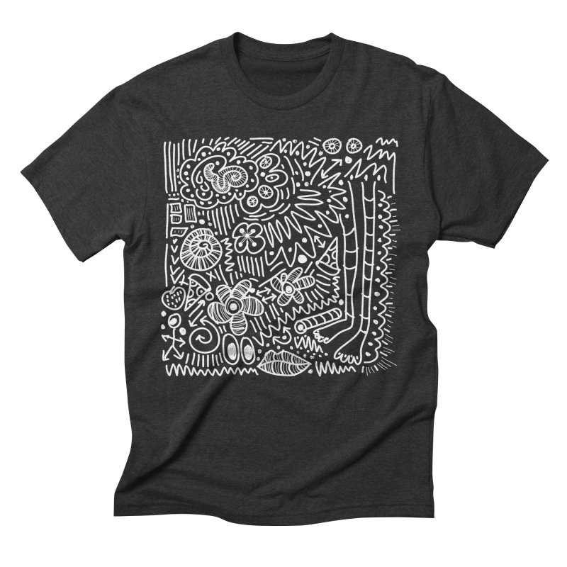 Doodle Therapy White Men's T-Shirt by heidig's Shop
