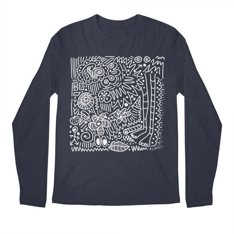 Doodle Therapy White Men's Regular Longsleeve T-Shirt by heidig's Shop