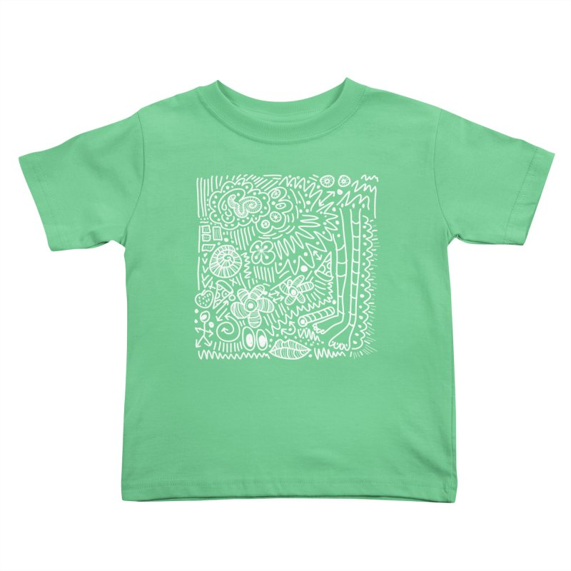 Doodle Therapy White Kids Toddler T-Shirt by heidig's Shop