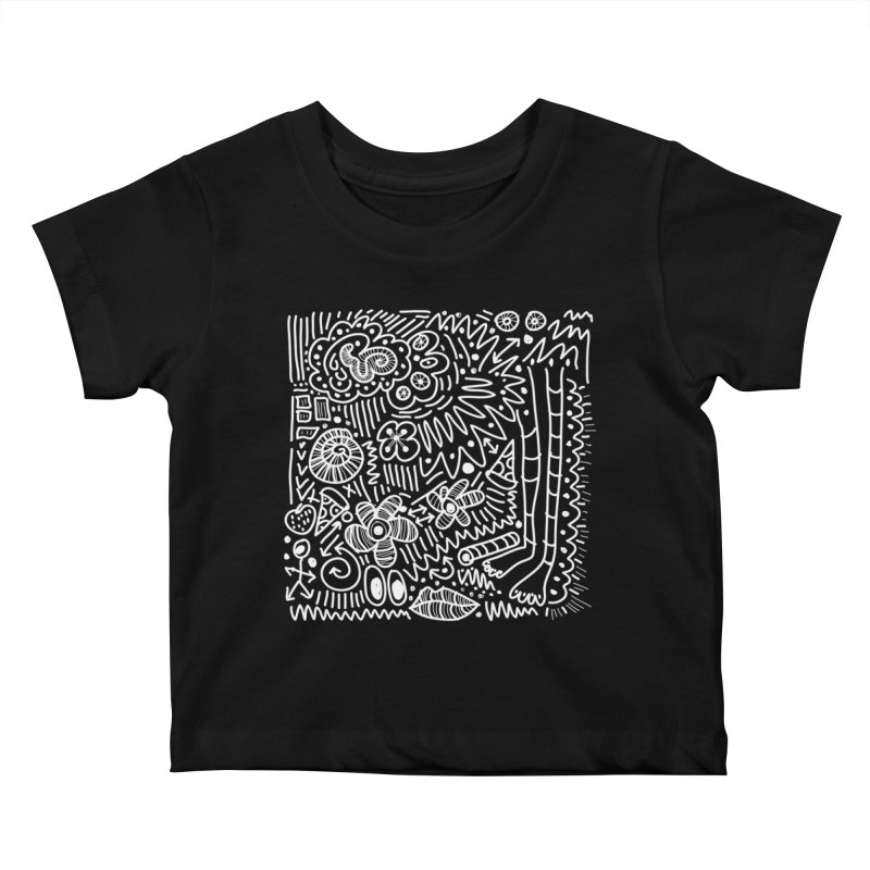 Doodle Therapy White Kids Baby T-Shirt by heidig's Shop