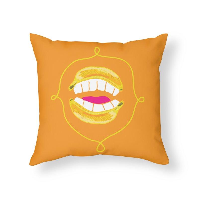 Banana Rhetoric Home Throw Pillow by heidig's Shop