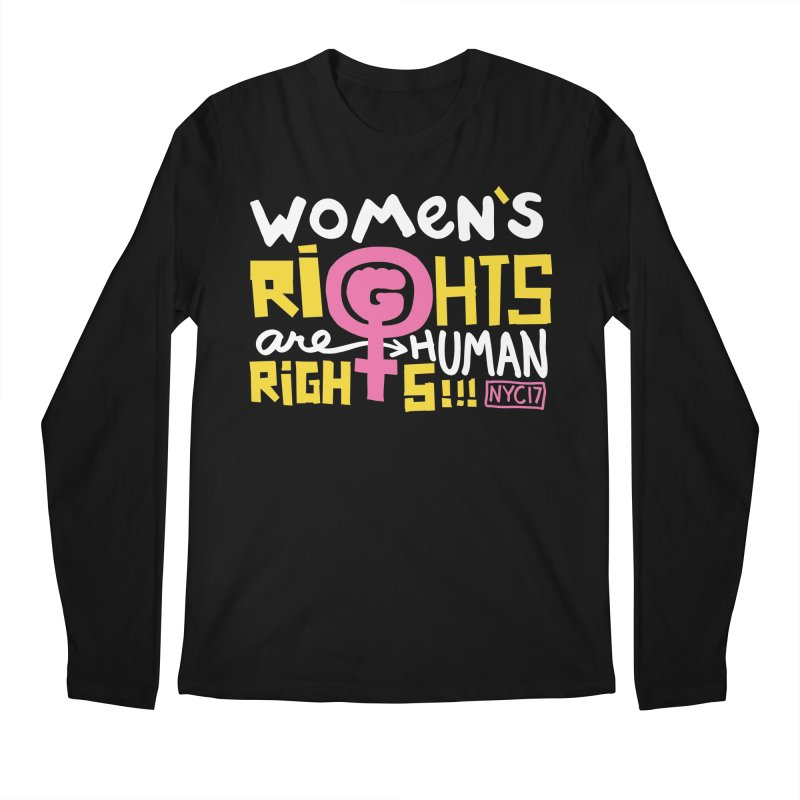 Women's Rights are Human Rights Men's Regular Longsleeve T-Shirt by heidig's Shop