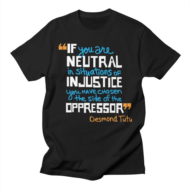 Desmond Tutu Quote Men's Regular T-Shirt by heidig's Shop