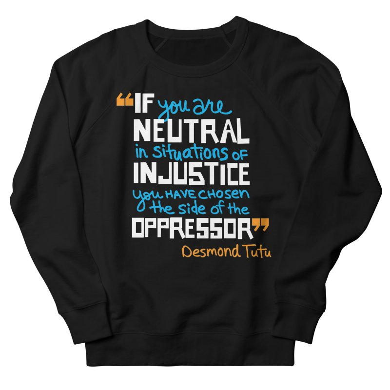 Desmond Tutu Quote Men's French Terry Sweatshirt by heidig's Shop