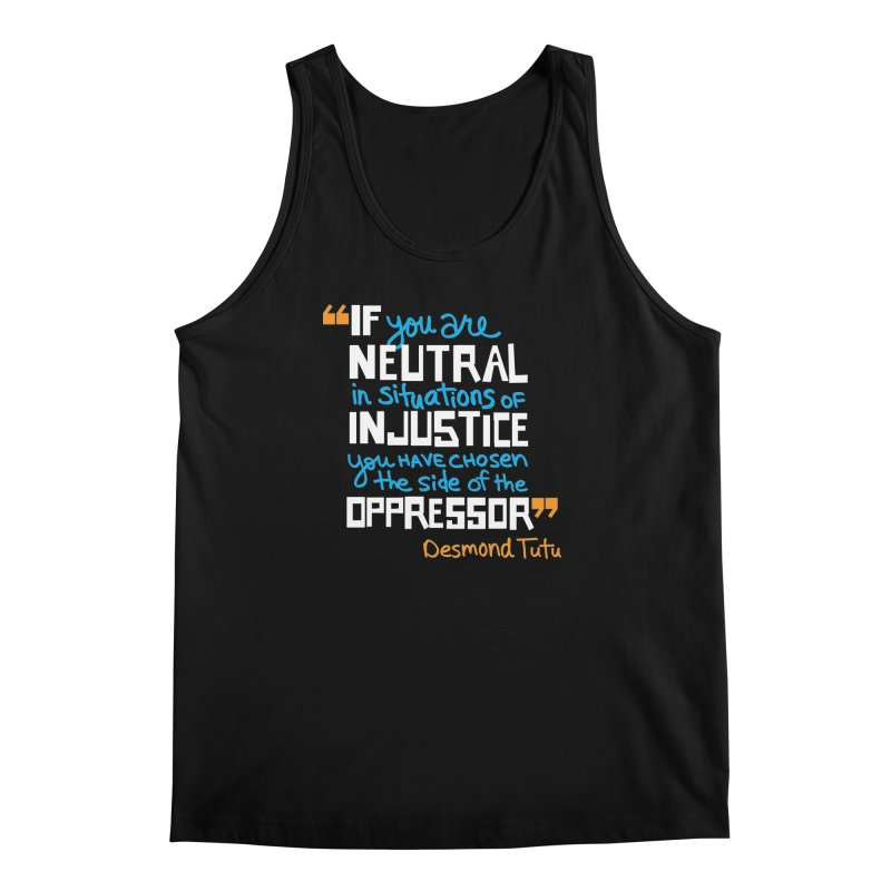 Desmond Tutu Quote Men's Regular Tank by heidig's Shop