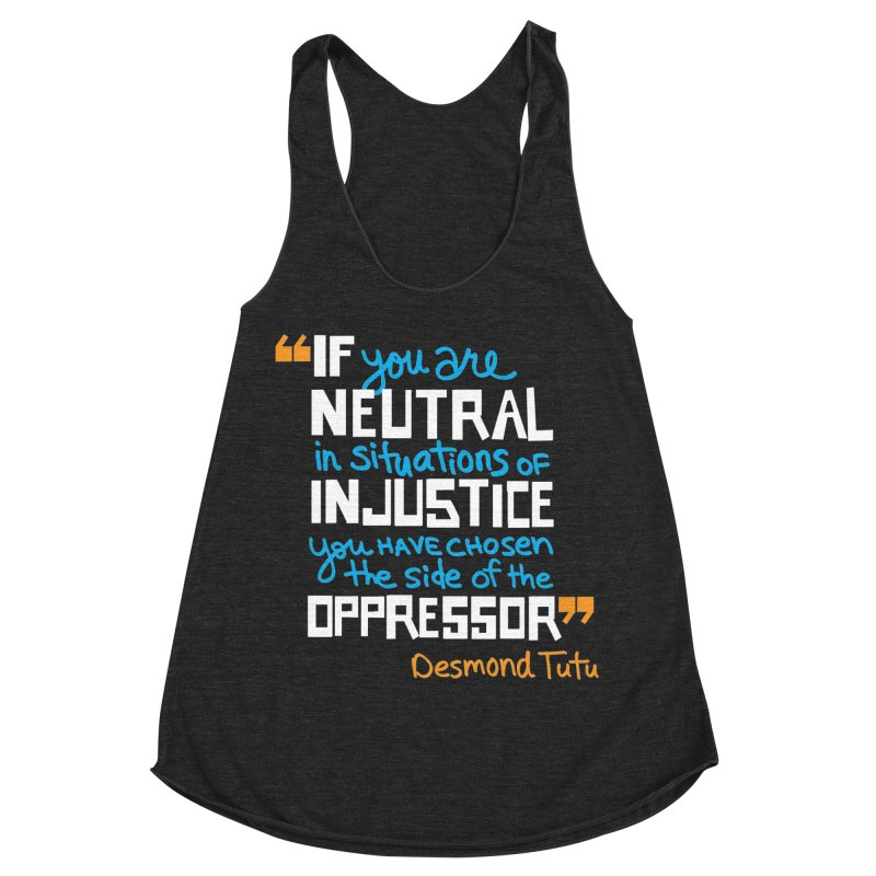 Desmond Tutu Quote Women's Racerback Triblend Tank by heidig's Shop