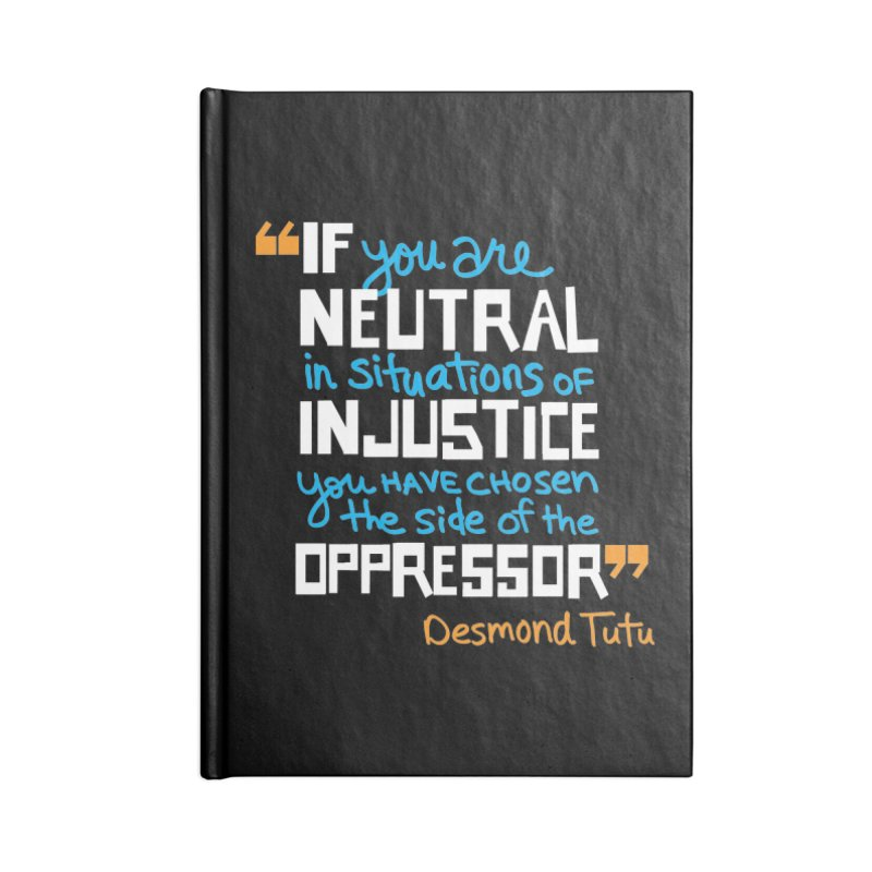 Desmond Tutu Quote Accessories Lined Journal Notebook by heidig's Shop