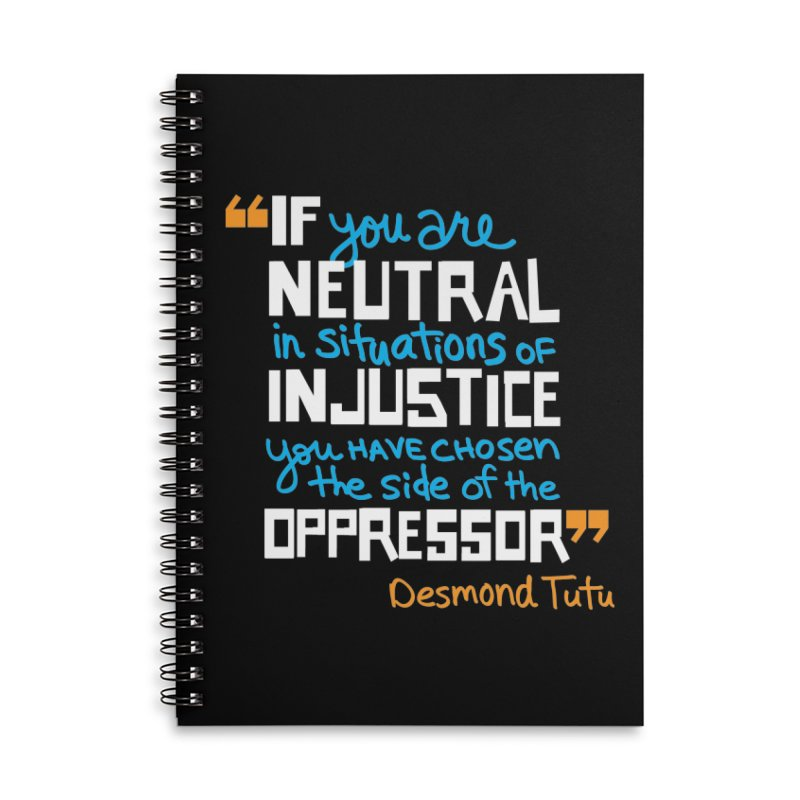Desmond Tutu Quote Accessories Lined Spiral Notebook by heidig's Shop