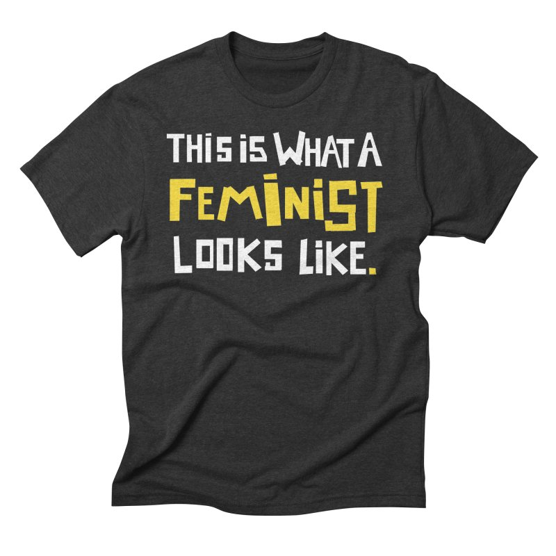 This is What a Feminist Looks Like - TAPE version Men's Triblend T-Shirt by heidig's Shop