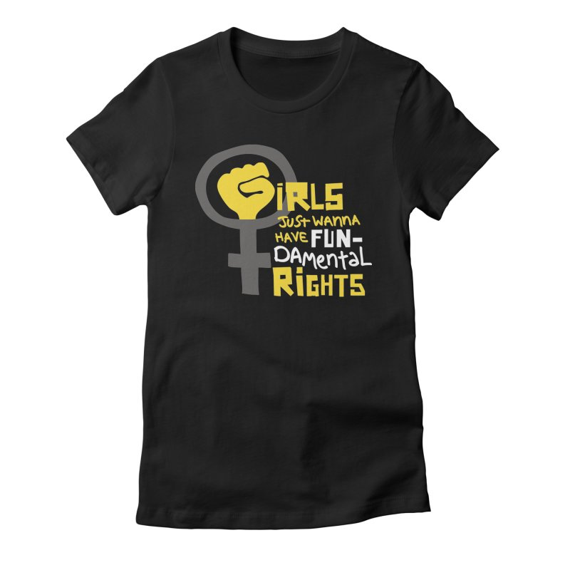 FUN-damental Rights Women's Fitted T-Shirt by heidig's Shop