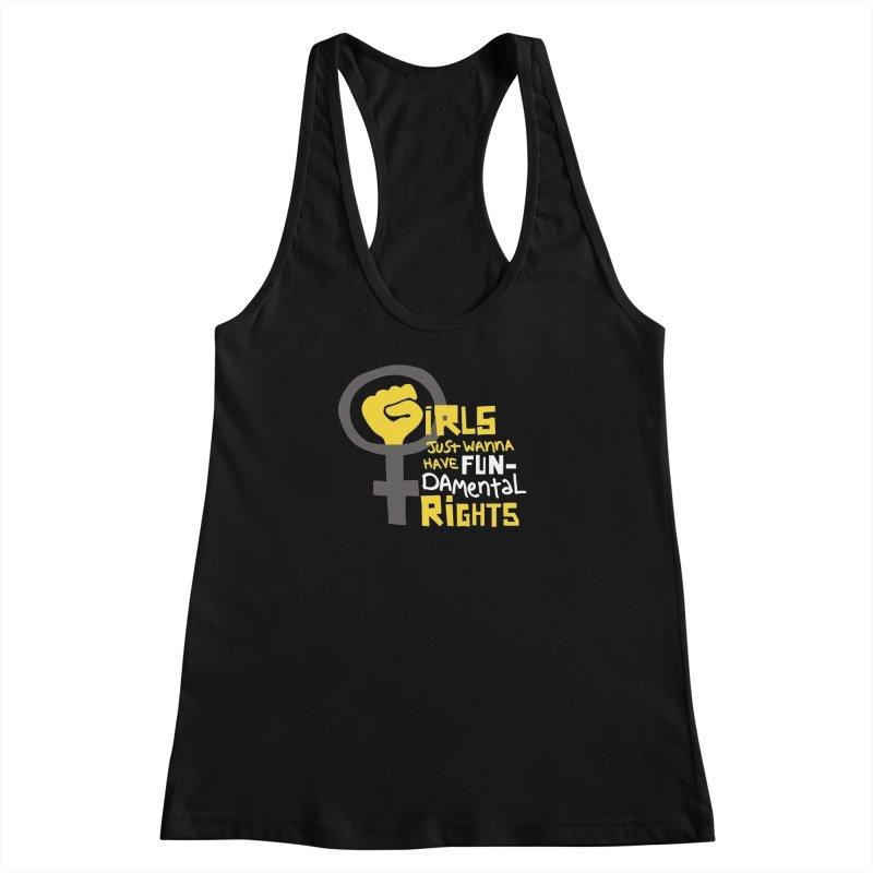 FUN-damental Rights Women's Racerback Tank by heidig's Shop