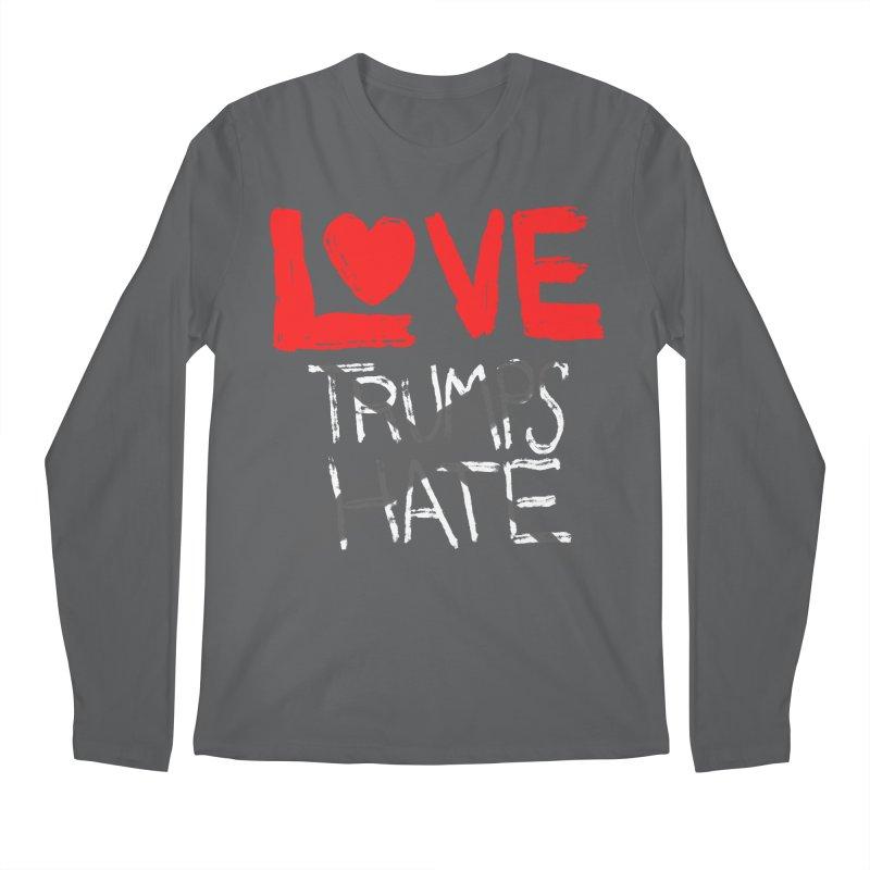 LOVE TRUMPS HATE Men's Longsleeve T-Shirt by heidig's Shop