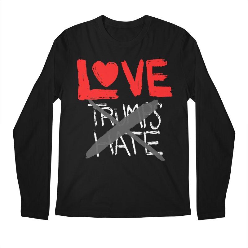 LOVE TRUMPS HATE Men's Regular Longsleeve T-Shirt by heidig's Shop