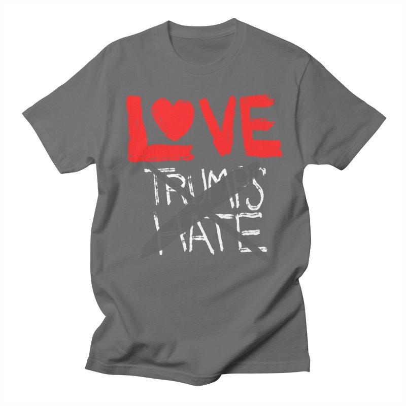 LOVE TRUMPS HATE Women's Regular Unisex T-Shirt by heidig's Shop