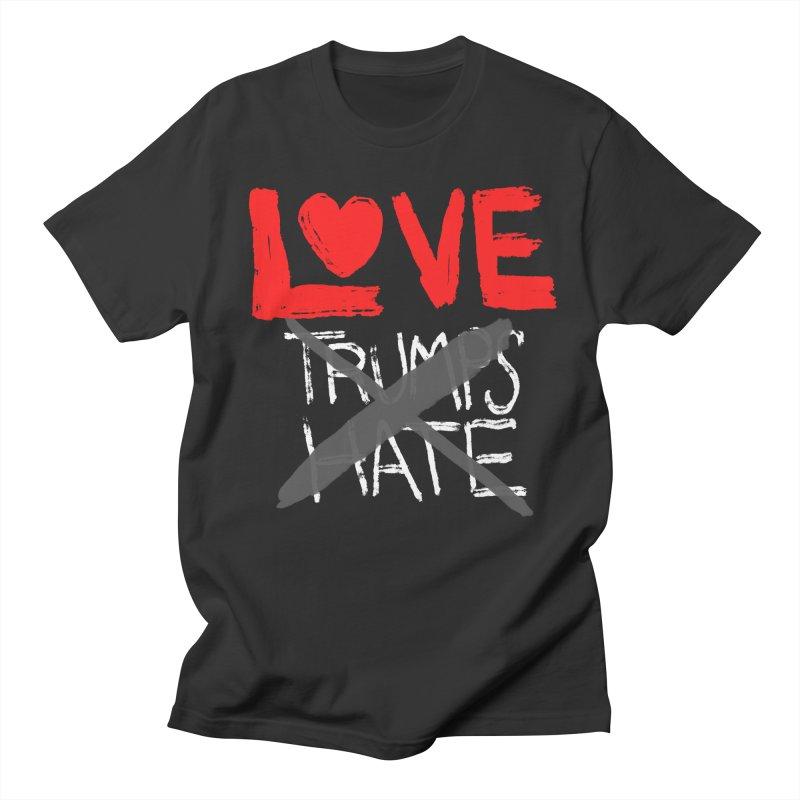 LOVE TRUMPS HATE Men's Regular T-Shirt by heidig's Shop