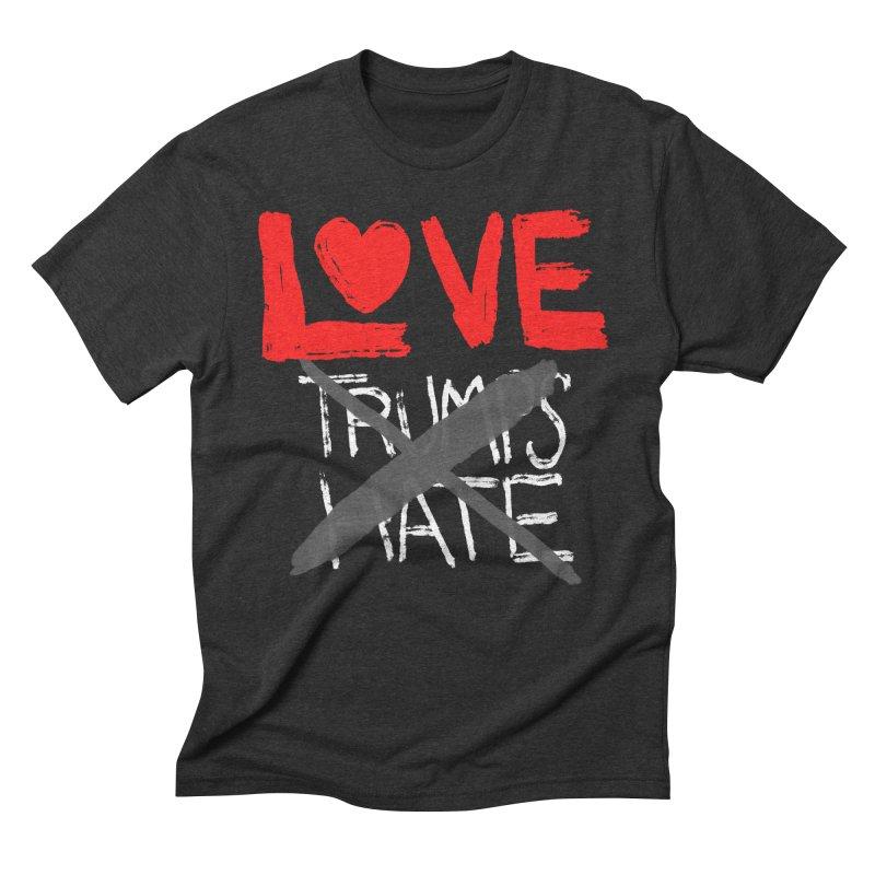 LOVE TRUMPS HATE Men's Triblend T-Shirt by heidig's Shop
