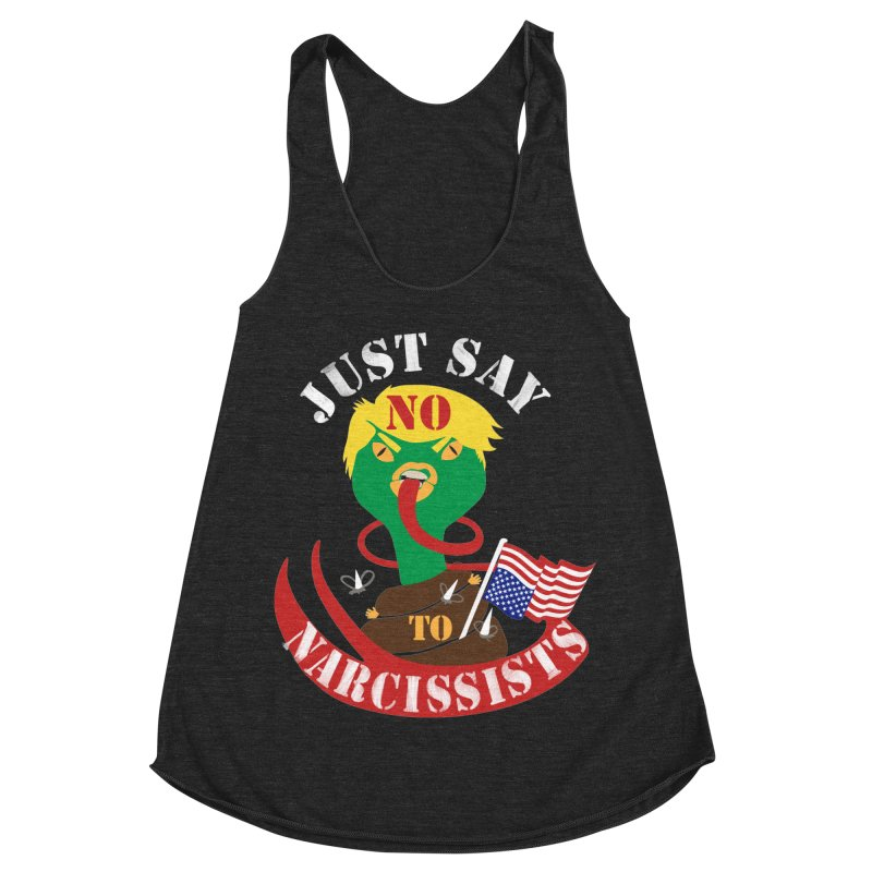SAY NO TO NARCIES Women's Racerback Triblend Tank by heidig's Shop