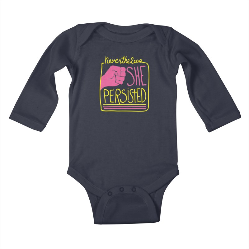 Nevertheless... Kids Baby Longsleeve Bodysuit by heidig's Shop