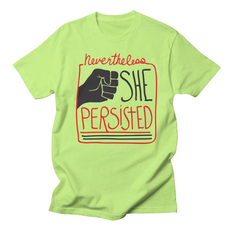 Nevertheless... Light Backgrounds Men's Regular T-Shirt by heidig's Shop
