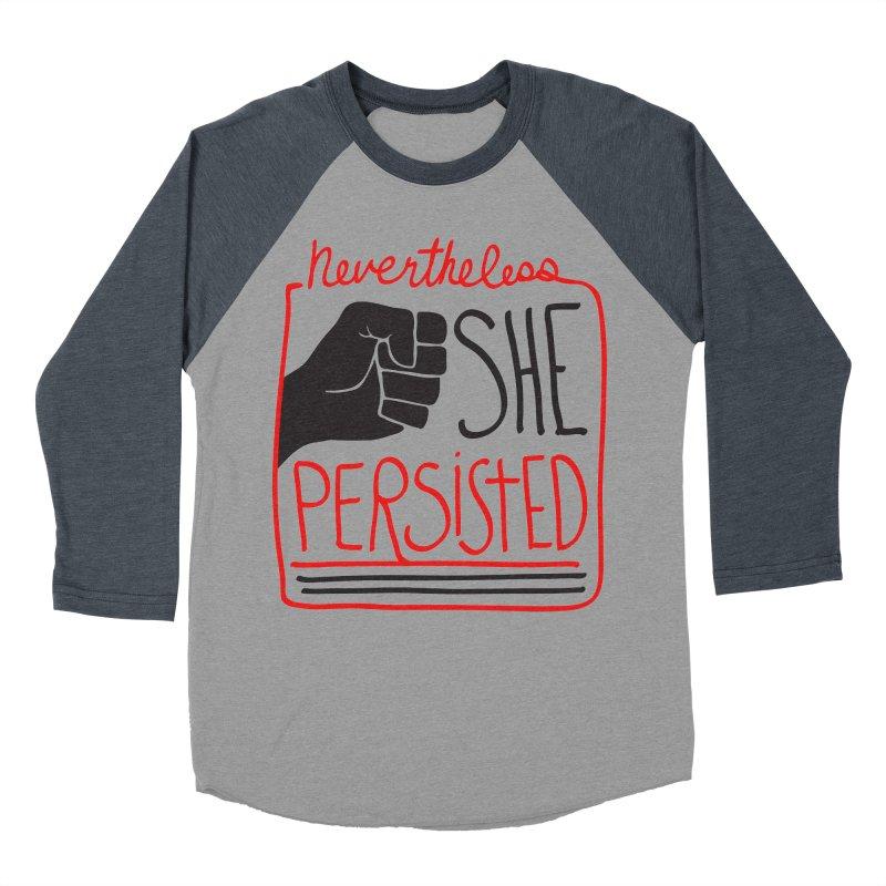 Nevertheless... Light Backgrounds Men's Baseball Triblend Longsleeve T-Shirt by heidig's Shop