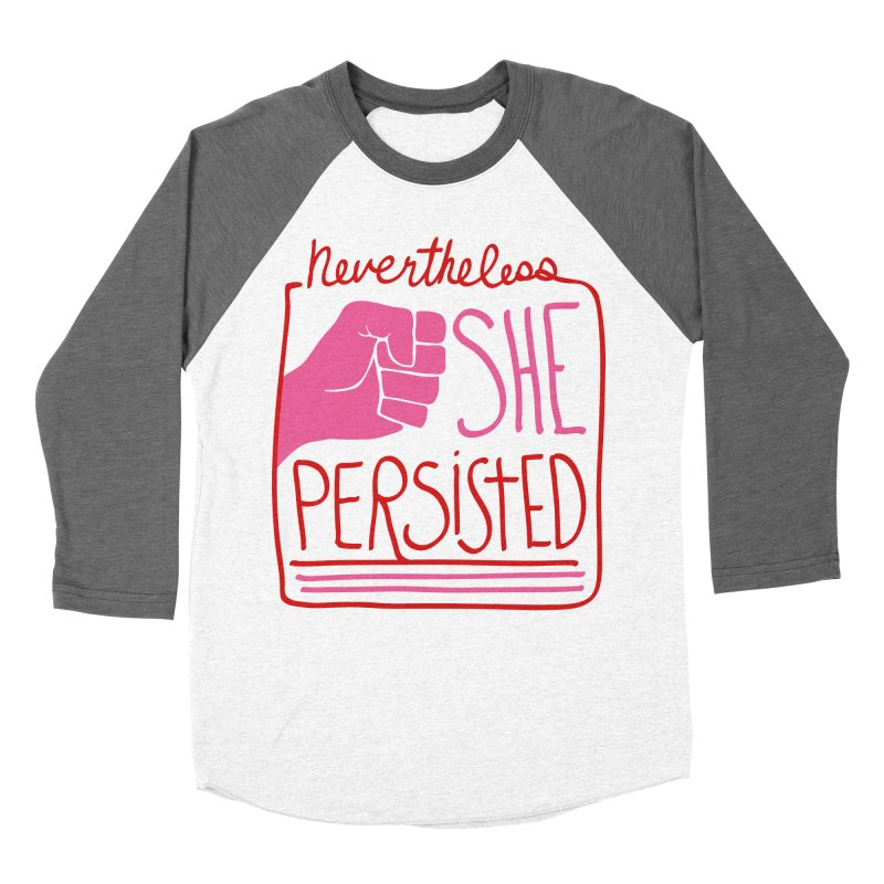 Nevertheless... RED & PINK Women's Baseball Triblend Longsleeve T-Shirt by heidig's Shop
