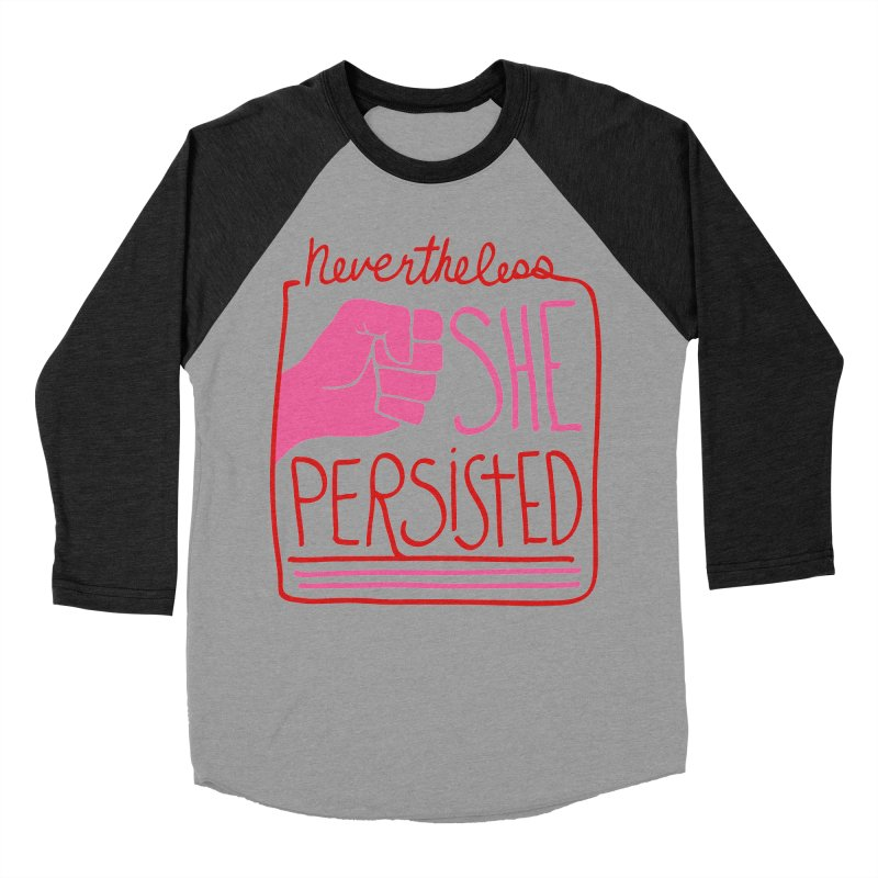 Nevertheless... RED & PINK Women's Baseball Triblend T-Shirt by heidig's Shop