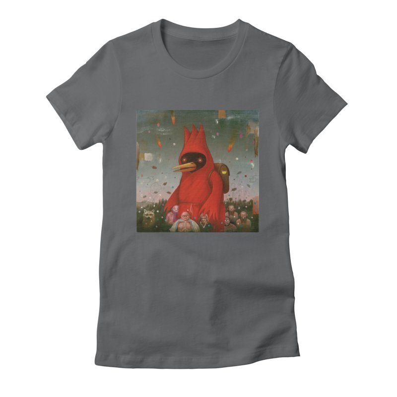 Winged Doom Women's Fitted T-Shirt by Heiko Müller's Artist Shop