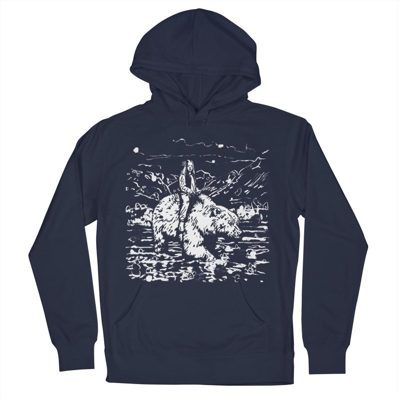 Bear Rider Women's French Terry Pullover Hoody by Heiko Müller's Artist Shop