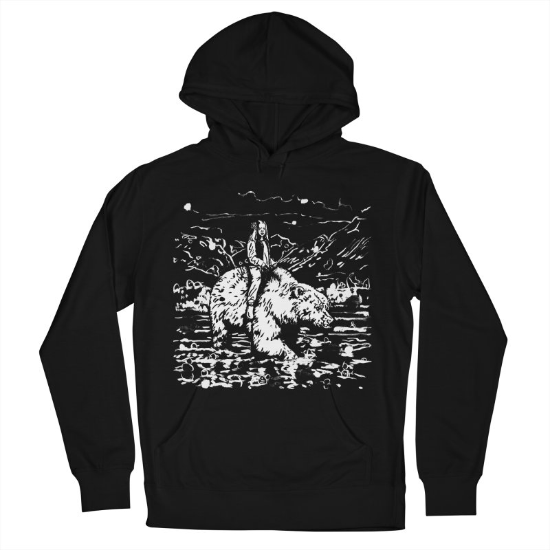 Bear Rider Men's French Terry Pullover Hoody by Heiko Müller's Artist Shop