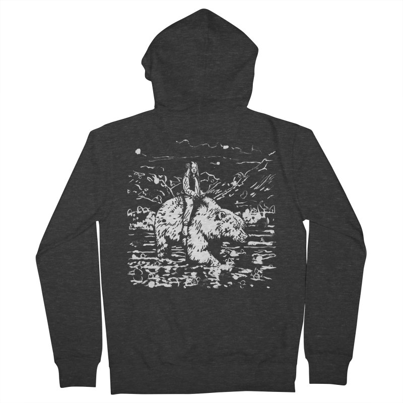 Bear Rider Women's French Terry Zip-Up Hoody by Heiko Müller's Artist Shop