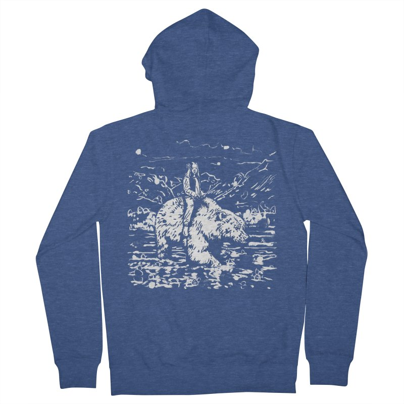 Bear Rider Men's French Terry Zip-Up Hoody by Heiko Müller's Artist Shop