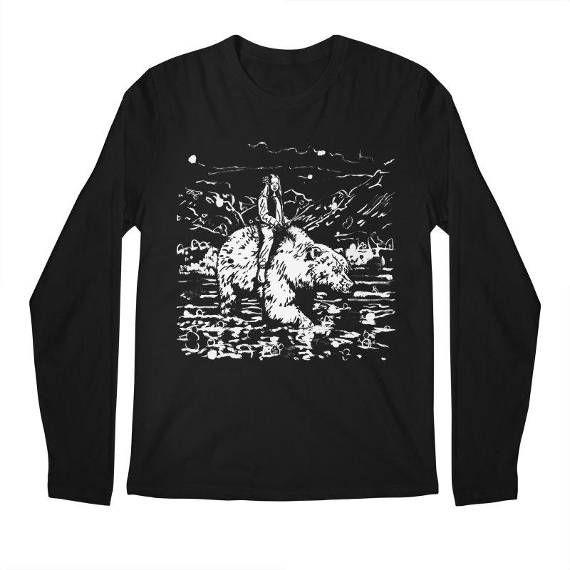 Bear Rider Men's Regular Longsleeve T-Shirt by Heiko Müller's Artist Shop