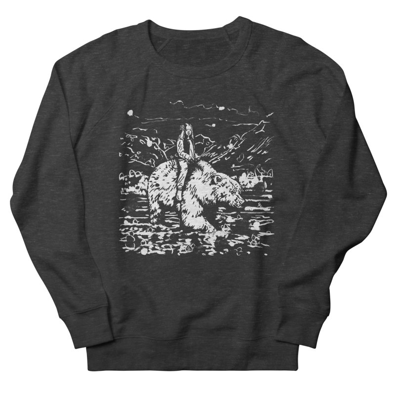 Bear Rider Women's French Terry Sweatshirt by Heiko Müller's Artist Shop