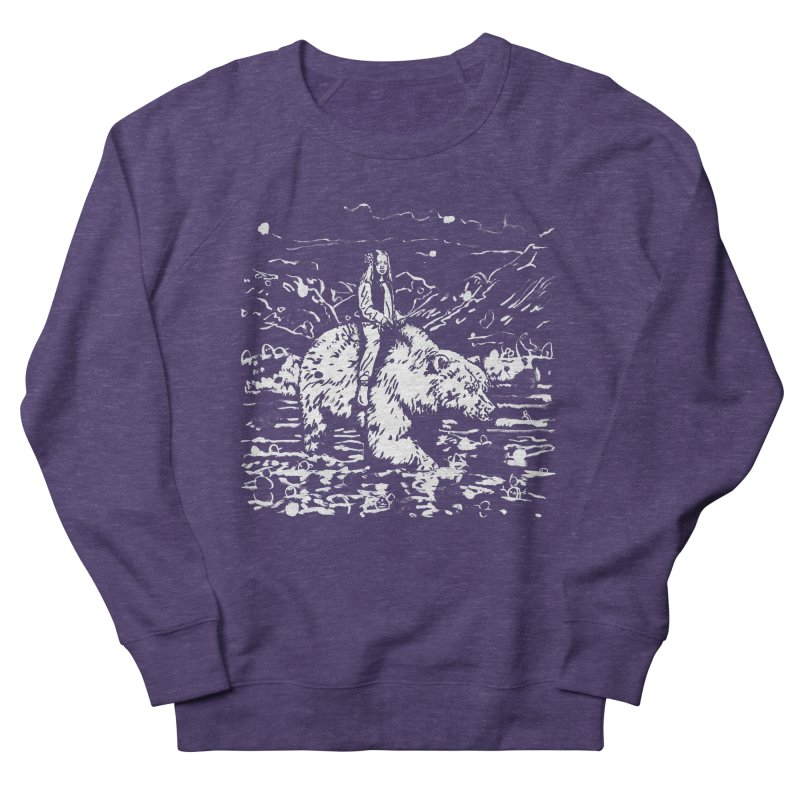 Bear Rider Men's French Terry Sweatshirt by Heiko Müller's Artist Shop