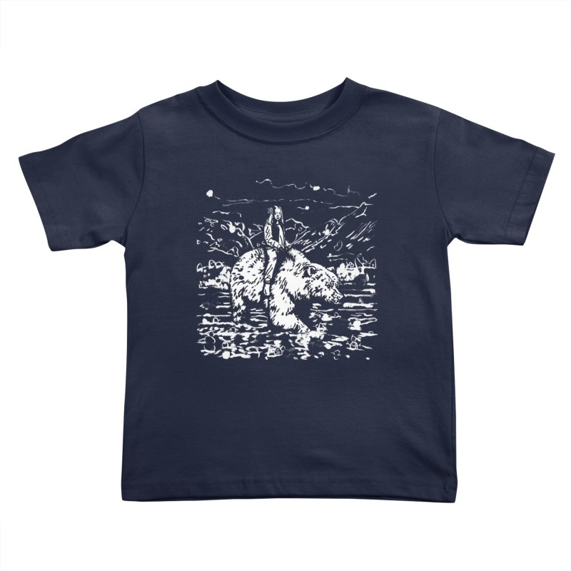 Bear Rider Kids Toddler T-Shirt by Heiko Müller's Artist Shop