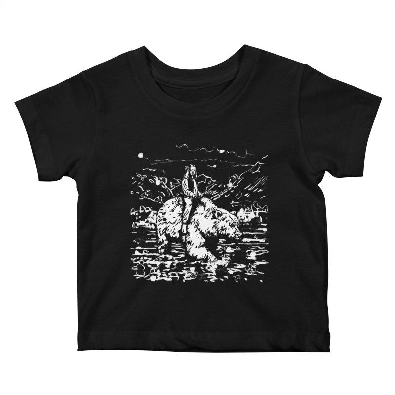 Bear Rider Kids Baby T-Shirt by Heiko Müller's Artist Shop