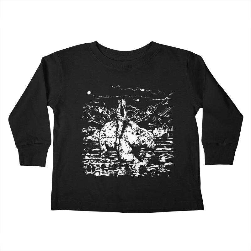 Bear Rider Kids Toddler Longsleeve T-Shirt by Heiko Müller's Artist Shop