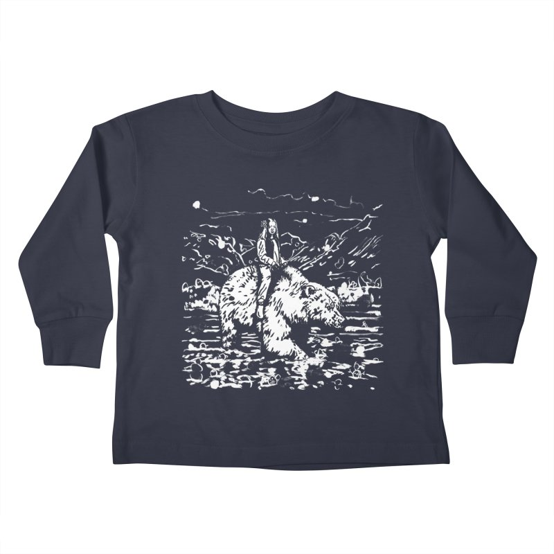Bear Rider Kids Toddler Longsleeve T-Shirt by Heiko Müller's Artist Shop