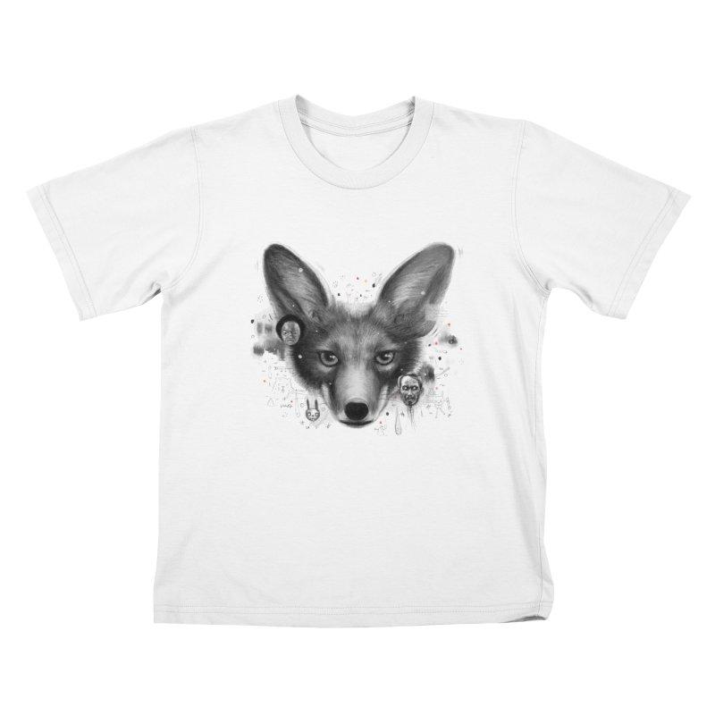 Little Fox Kids T-Shirt by Heiko Müller's Artist Shop