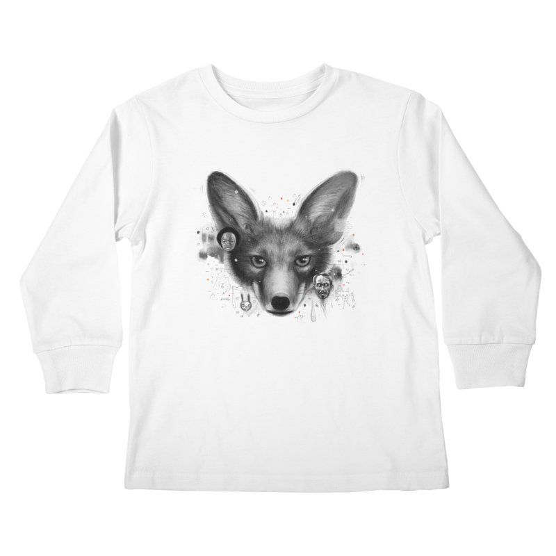 Little Fox Kids Longsleeve T-Shirt by Heiko Müller's Artist Shop