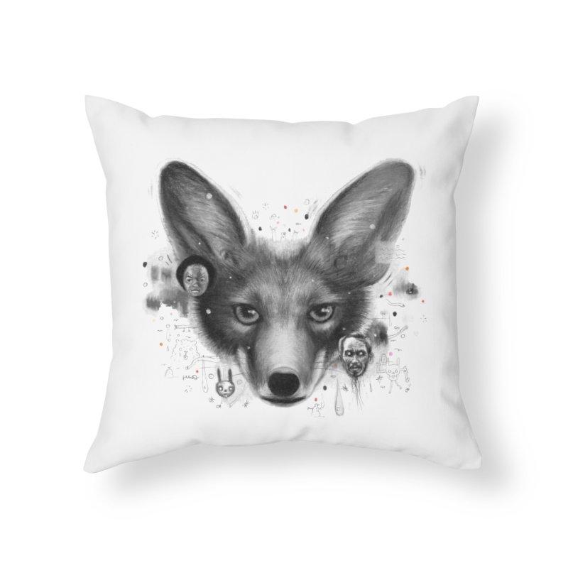Little Fox Home Throw Pillow by Heiko Müller's Artist Shop