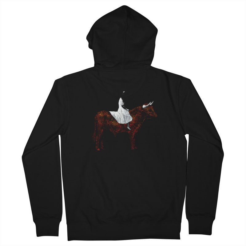 Bullrider Men's French Terry Zip-Up Hoody by Heiko Müller's Artist Shop