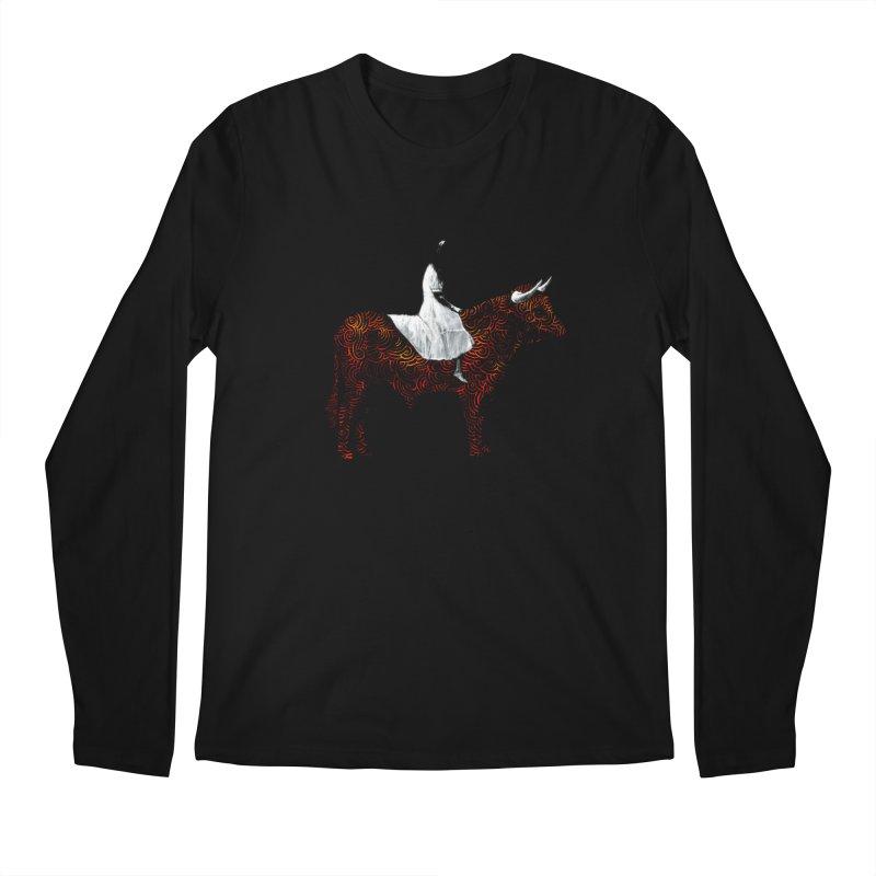 Bullrider Men's Regular Longsleeve T-Shirt by Heiko Müller's Artist Shop