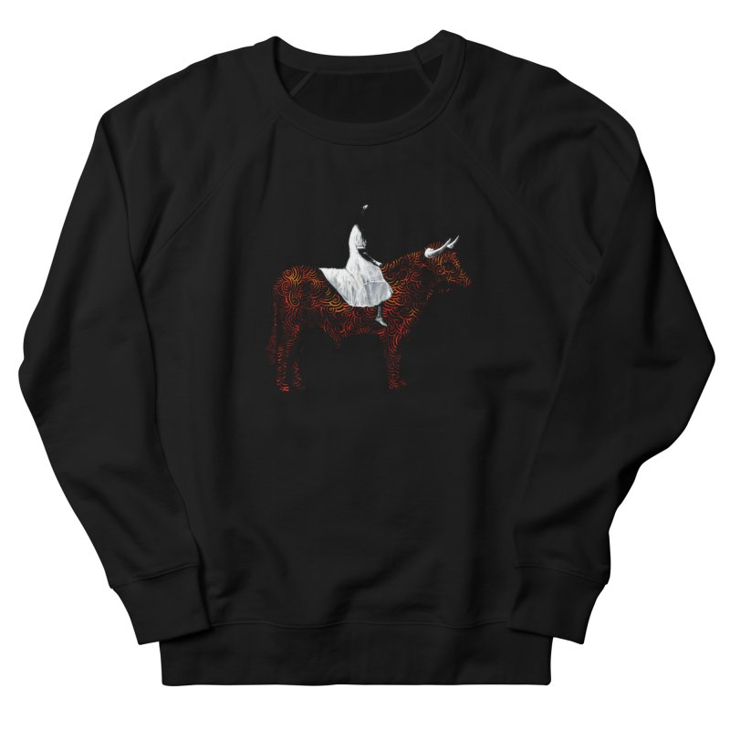 Bullrider Men's French Terry Sweatshirt by Heiko Müller's Artist Shop