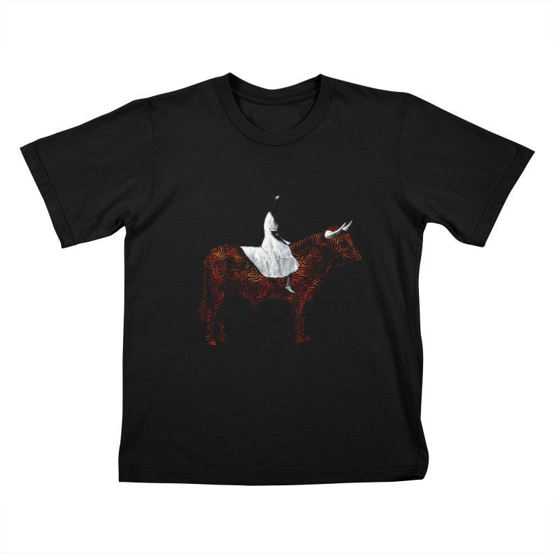 Bullrider Kids T-Shirt by Heiko Müller's Artist Shop
