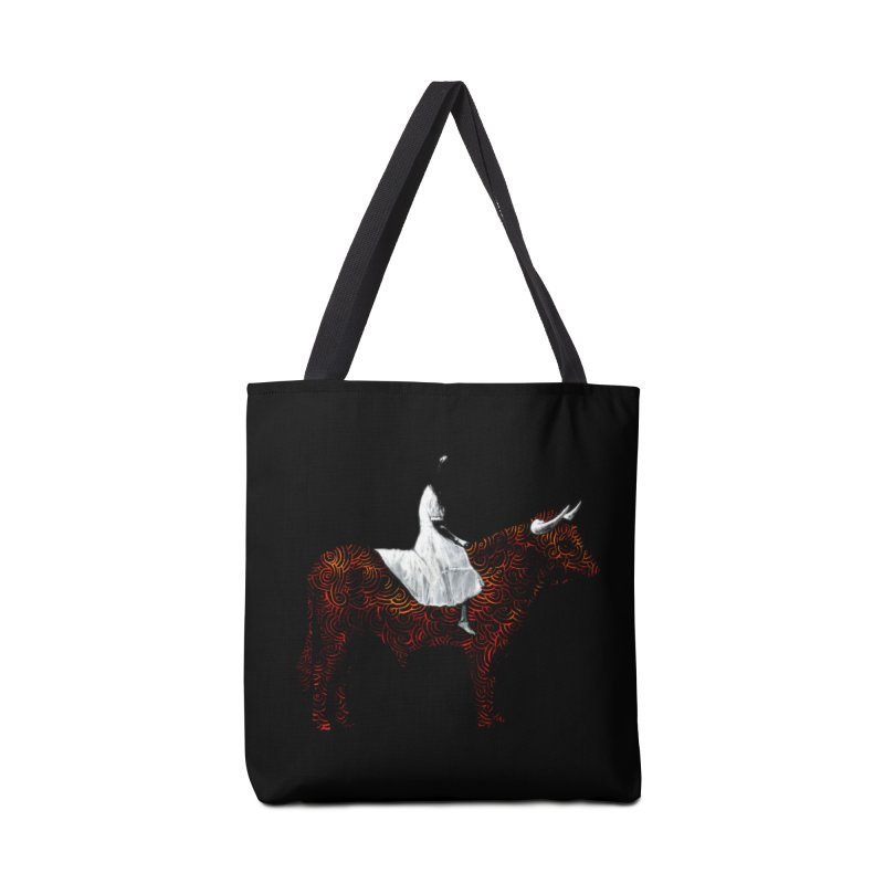 Bullrider Accessories Tote Bag Bag by Heiko Müller's Artist Shop