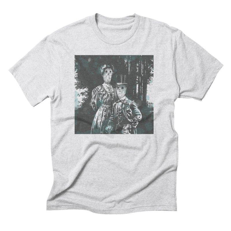 Fancy Couple in the Park Men's Triblend T-Shirt by Heiko Müller's Artist Shop