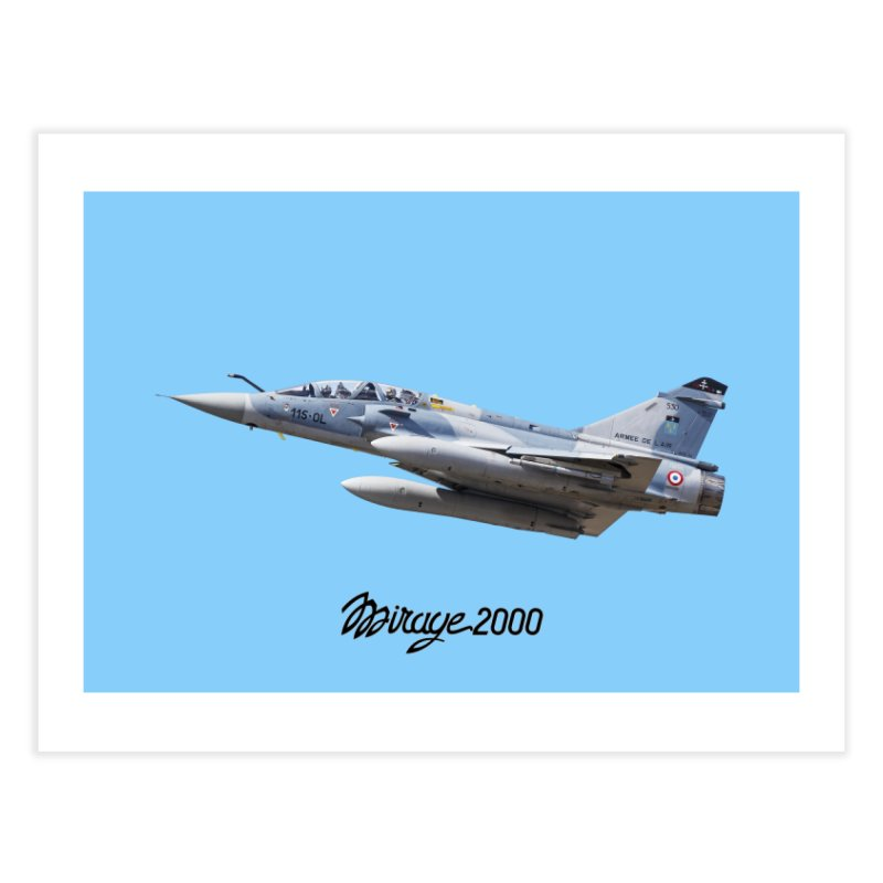 Dassault Mirage 2000D with official logo Home Fine Art Print by heilimo's Artist Shop