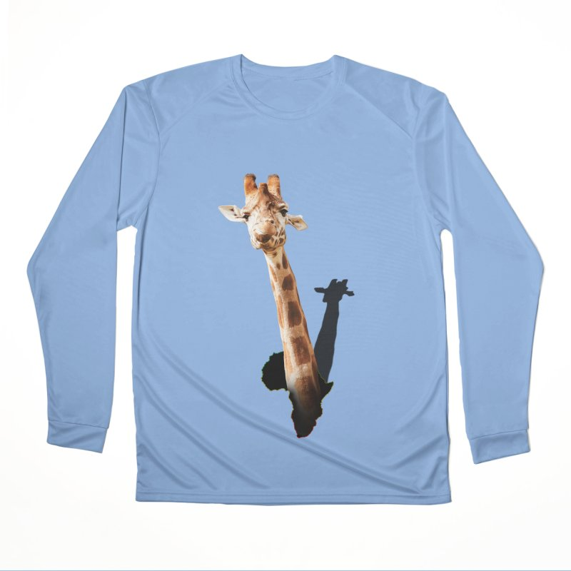 Funny giraffe popping out of Africa Men's Longsleeve T-Shirt by heilimo's Artist Shop